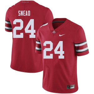 Mens Ohio State Buckeyes #24 Brian Snead Red College Football Jerseys 390356-989