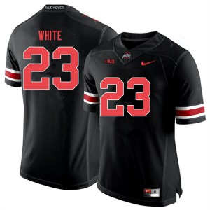 Mens Ohio State Buckeyes #23 De'Shawn White Black Out College Football Jerseys 519601-853