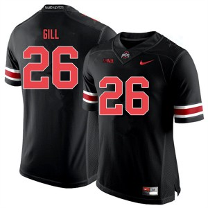Mens Ohio State Buckeyes #26 Jaelen Gill Black Out College Football Jerseys 651707-397