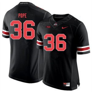 Mens Ohio State Buckeyes #36 K'Vaughan Pope Black Out College Football Jerseys 660698-905