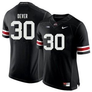 Mens Ohio State Buckeyes #30 Kevin Dever Black College Football Jerseys 423163-902