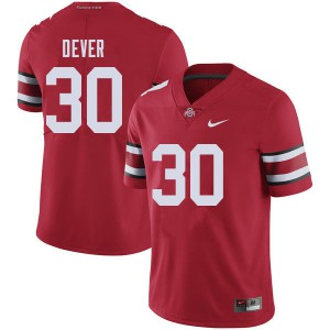 Mens Ohio State Buckeyes #30 Kevin Dever Red College Football Jerseys 484472-409