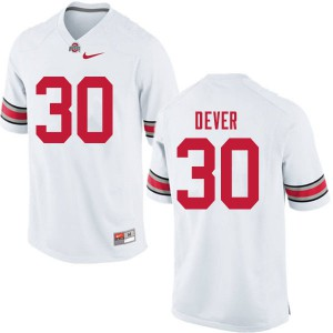 Mens Ohio State Buckeyes #30 Kevin Dever White College Football Jerseys 765347-289