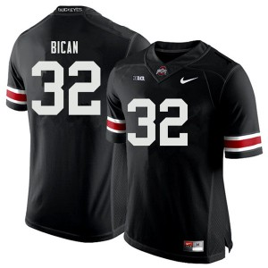 Mens Ohio State Buckeyes #32 Luciano Bican Black College Football Jerseys 236008-413