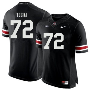 Mens Ohio State Buckeyes #72 Tommy Togiai Black College Football Jerseys 590770-635