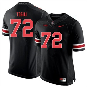 Mens Ohio State Buckeyes #72 Tommy Togiai Black Out College Football Jerseys 697961-268