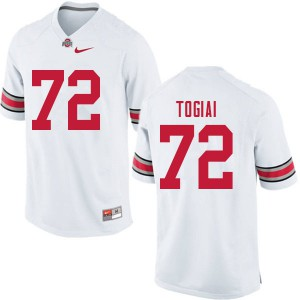 Mens Ohio State Buckeyes #72 Tommy Togiai White College Football Jerseys 506124-697