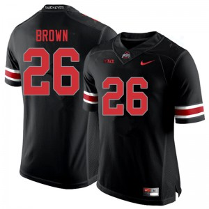 Mens Ohio State Buckeyes #26 Cameron Brown Blackout College Football Jerseys 927796-828