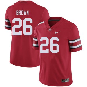 Mens Ohio State Buckeyes #26 Cameron Brown Red College Football Jerseys 931576-666