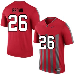 Mens Ohio State Buckeyes #26 Cameron Brown Throwback College Football Jerseys 302625-941