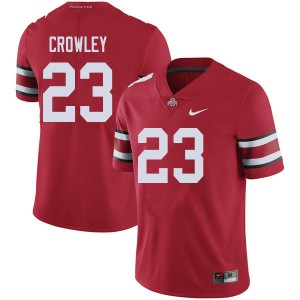 Mens Ohio State Buckeyes #23 Marcus Crowley Red College Football Jerseys 893476-164