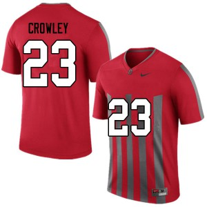 Mens Ohio State Buckeyes #23 Marcus Crowley Throwback College Football Jerseys 148349-371