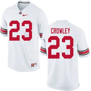 Mens Ohio State Buckeyes #23 Marcus Crowley White College Football Jerseys 191132-173