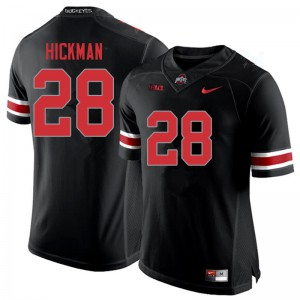 Mens Ohio State Buckeyes #28 Ronnie Hickman Blackout College Football Jerseys 121404-155