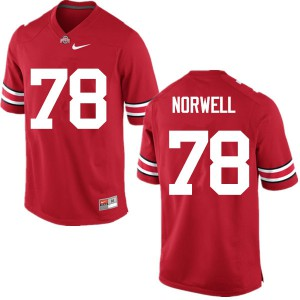Mens Ohio State Buckeyes #78 Andrew Norwell Red College Football Jerseys 602356-788