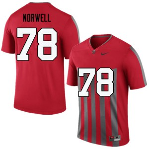 Mens Ohio State Buckeyes #78 Andrew Norwell Throwback College Football Jerseys 912639-593