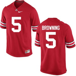 Mens Ohio State Buckeyes #5 Baron Browning Red College Football Jerseys 391742-758