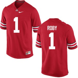 Mens Ohio State Buckeyes #1 Bradley Roby Red College Football Jerseys 368307-713
