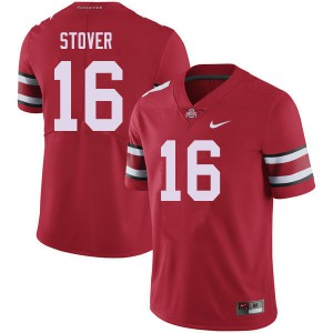 Mens Ohio State Buckeyes #16 Cade Stover Red College Football Jerseys 485555-163