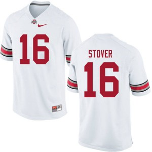 Mens Ohio State Buckeyes #16 Cade Stover White College Football Jerseys 662486-736