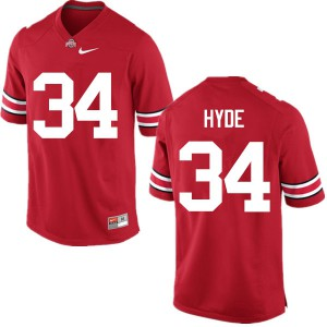 Mens Ohio State Buckeyes #34 Carlos Hyde Red College Football Jerseys 519349-363