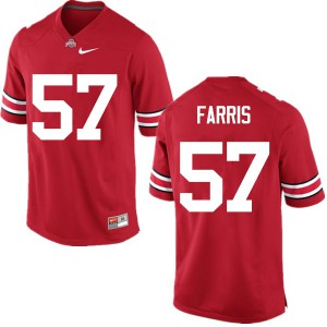 Mens Ohio State Buckeyes #57 Chase Farris Red College Football Jerseys 941172-819