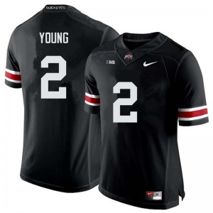 Mens Ohio State Buckeyes #2 Chase Young Black College Football Jerseys 159140-216
