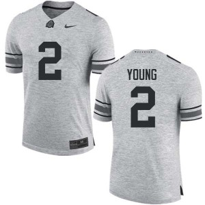 Mens Ohio State Buckeyes #2 Chase Young Gray College Football Jerseys 972930-276