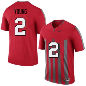 Mens Ohio State Buckeyes #2 Chase Young Throwback College Football Jerseys 902030-278