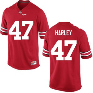 Mens Ohio State Buckeyes #47 Chic Harley Red College Football Jerseys 746905-375