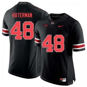 Mens Ohio State Buckeyes #48 Clay Raterman Blackout College Football Jerseys 347552-527