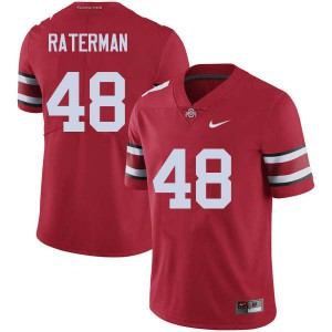 Mens Ohio State Buckeyes #48 Clay Raterman Red College Football Jerseys 764384-991