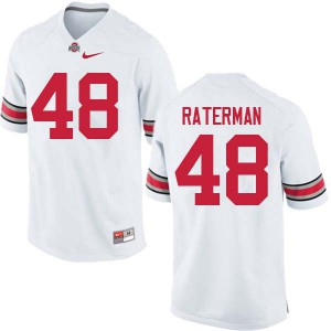 Mens Ohio State Buckeyes #48 Clay Raterman White College Football Jerseys 668971-355