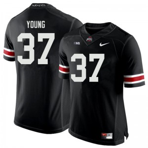 Mens Ohio State Buckeyes #37 Craig Young Black College Football Jerseys 503275-543