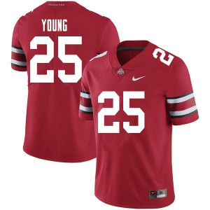 Mens Ohio State Buckeyes #25 Craig Young Red College Football Jerseys 956251-191