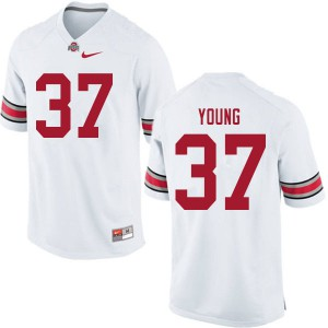 Mens Ohio State Buckeyes #37 Craig Young White College Football Jerseys 436983-632