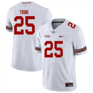Mens Ohio State Buckeyes #25 Craig Young White College Football Jerseys 518068-686
