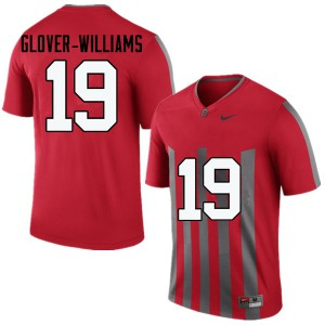 Mens Ohio State Buckeyes #19 Eric Glover-Williams Throwback College Football Jerseys 304401-903
