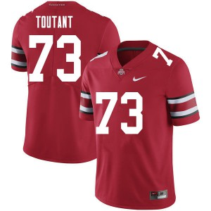Mens Ohio State Buckeyes #73 Grant Toutant Red College Football Jerseys 948534-144
