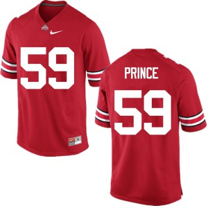 Mens Ohio State Buckeyes #59 Isaiah Prince Red College Football Jerseys 957466-915