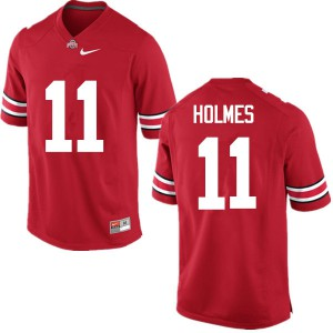 Mens Ohio State Buckeyes #11 Jalyn Holmes Red College Football Jerseys 704562-880