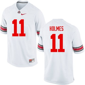 Mens Ohio State Buckeyes #11 Jalyn Holmes White College Football Jerseys 544099-353