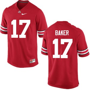 Mens Ohio State Buckeyes #17 Jerome Baker Red College Football Jerseys 422090-848