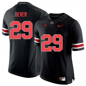 Mens Ohio State Buckeyes #29 Kevin Dever Blackout College Football Jerseys 316001-745