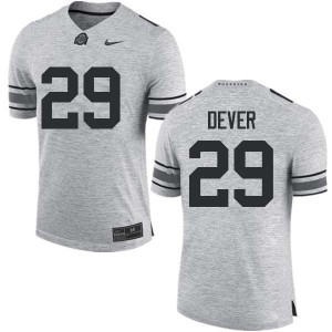 Mens Ohio State Buckeyes #29 Kevin Dever Gray College Football Jerseys 639240-371