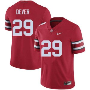 Mens Ohio State Buckeyes #29 Kevin Dever Red College Football Jerseys 543569-394