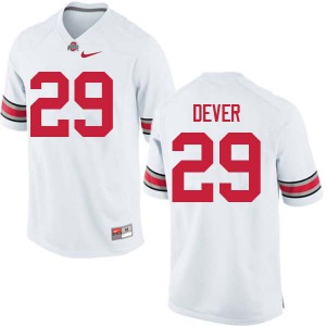Mens Ohio State Buckeyes #29 Kevin Dever White College Football Jerseys 677573-390