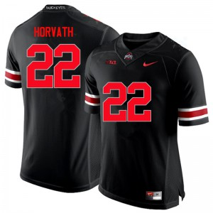 Mens Ohio State Buckeyes #22 Les Horvath Black College Football Jerseys 326958-232