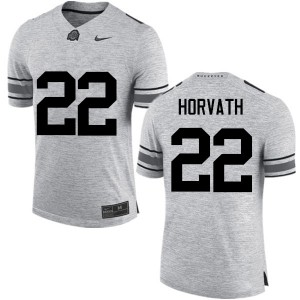 Mens Ohio State Buckeyes #22 Les Horvath Gray College Football Jerseys 326331-613