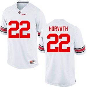Mens Ohio State Buckeyes #22 Les Horvath White College Football Jerseys 168380-310